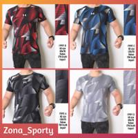 Baju Olahraga Pria Mozaik Underarmour Kaos Sport Gym Fitness