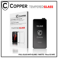 Pocophone X3 NFC - COPPER Tempered Glass Full Glue ANTI GLARE - MATTE