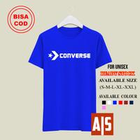 Baju Kaos Distro Convers Allstar Tshirt Pria Atasan Pria - Ungu, S
