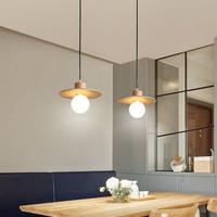 kap lampu gantung minimalis kayu vintage retro