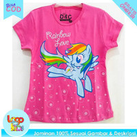 Baju / Kaos Anak Murah Lengan Pendek Logokids Pony Rainbow 1-10 Tahun