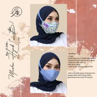 Masker Kain Motif Bunga B Ar Rafi Masker Hijab B Arrafi Headloop