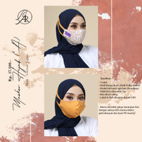 Masker Kain Motif BungaA Cantik Ar Rafi Masker Hijab A Arrafi Headloop