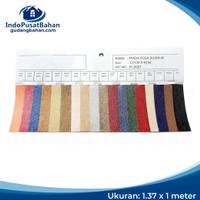 PVC LEATHER / KULIT IMITASI - PRADA TEIGA HUJAN METALIC