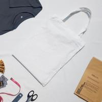 [READY] Tas Tote Bag Baby Kanvas Putih Asli Polos Murah 30x40 - Non Resleting