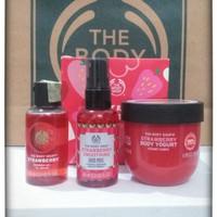 The body Shop Strawberry Shower gel Body Yogurt Face Mist Paket Gift