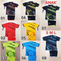 baju olahraga setelan ANAK motif BOLA AP1 kaos futsal dan badminton
