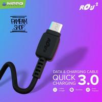 Kabel Data Hippo ROU Micro USB 100 cm Samsung XiaoMi Oppo Vivo Asus
