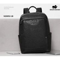 Bison Denim-Tas Ransel / Backpack Pria Kulit Sapi New Style N20052-1B