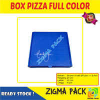 Box Pizza 21x21x4 Full Color | Kotak Makanan | Box Baju | Zigma Pack