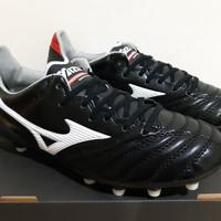 Sepatu Bola Mizuno Morelia Neo ll Leather Black White Red