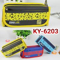 Dompet pensil/ kotak pensil/ tempat pensil seleting Kayagi KY 6203