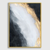 Lukisan Dinding/Art Print Stream-Frame StainlessGold-50x70