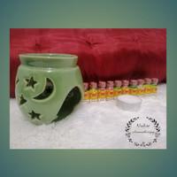 Tungku Aromatherapy paket termasuk essential oil dan lilin