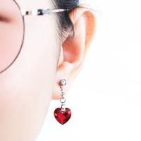 Perhiasan Anting Swarovski - Rosette Scarlet Earring by AR Hestia