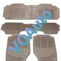 Karpet Karet Cream 4 potong Mobil Datsun Go