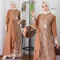 Baju Busana Muslim Gamis Syari Gaun Pesta Dress Maxi Mischa kebaya