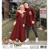 CP gamis koko FILA Navy Maroon baju couple casual polos CP muslimah