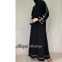 Abaya gamis arab hitam Elegant Dubai turkey