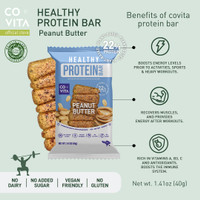 Covita Healthy Protein Bar - Peanut Butter - Snack Instant Sehat