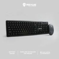 Rexus Keyboard Mouse Wireless KM8 Combo