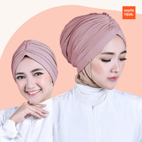 Turban Bandana Instan Bubble 2in1 Turban Wanita Dewasa Hijab Turban