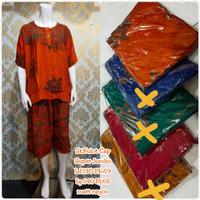 Setelan daster batik jumbo/baby doll wanita jumbo/setelan pende
