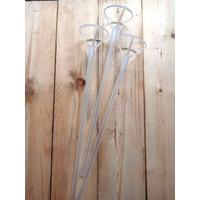 Stick balon pvc transparan / stik gagang balon bobo 30 cm bening