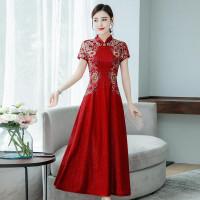 Dress Cheongsam Gaya Cina Untuk Wanita premiu. import original