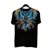 MandiriBF048 Kaos Distro Pria T-Shirt PriaKaos Pria Burung Hantu Lebar