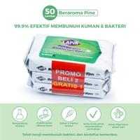 BUY2 GET1 Lapin Tisu Basah Multipurpose Disinfectant Pine 50s