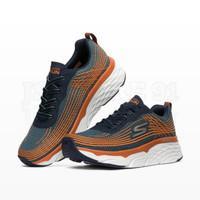 Skechers Max Cushioning Elite Men's Running Shoes - Navy/Orange