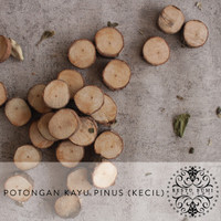 Wood Slice - Potongan Kayu Pinus Kecil - Slice Chips - Wooden Craft