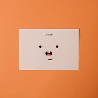 Kartu Ucapan gambar muka / Greeting Card lucu