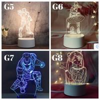 LAMPU HIAS LED 3D / LAMPU TIDUR HIAS DIMENSI PART 12