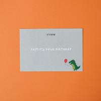 Kartu Ucapan Ulang tahun / Birthday Greeting Card Dino