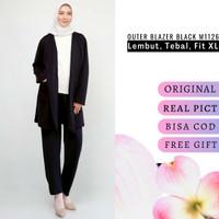 Blazer hitam wanita jumbo outerwear blezer panjang outer XL M1126