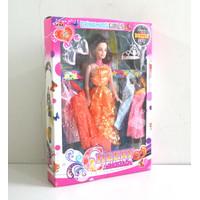 Mainan Boneka Cantik dan Aksesories Baju, Mahkota dan Anting