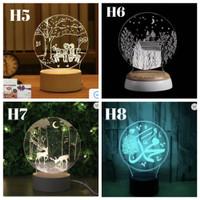 LAMPU HIAS LED 3D / LAMPU TIDUR HIAS DIMENSI PART 13
