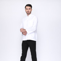 baju koko eksklusif RIZIQ putih semi jas