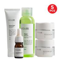 Koolit Acne Fighter Set + Anti Acne Exfoliating Serum 10ml