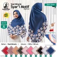 Jilbab Segi Empat Voal Miracle Syari Laser Cut Motif 8 by Umama Hijab