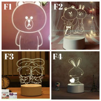LAMPU HIAS LED 3D / LAMPU TIDUR HIAS DIMENSI PART 11