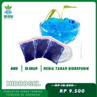 Hidrogel Biru Media Tanam Tanaman Hias indoor / Outdoor Infarm