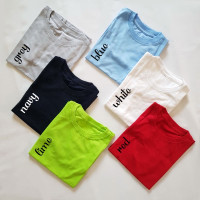 Kaos Polos / Baju Polos Anak Premium - Putih, Size 5