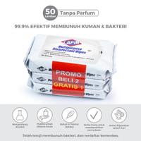 BUY2 GET1 Lapin Tisu Basah Multipurpose Disinfectant Tanpa Parfum 50s
