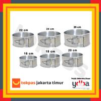 Loyang Bongkar Pasang Bulat Diameter 16 18 20 22 24 26 cm Bolu Kue