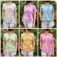 Tie Dye T-shirt wanita/katun