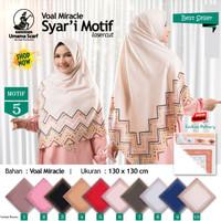 Jilbab Segi Empat Voal Miracle Syari Laser Cut Motif 5 by Umama Hijab