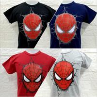kaos anak cowo/baju murah/baju spiderman/baju usia 1- 11 tahun